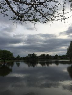 Nice reflection of the foreboding sky