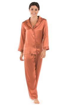1759e3a608 Women s Silk Pajamas (Morning Dew) Classic Luxury PJs Gift Sleepwear  TexereSilk Sleepwear Women