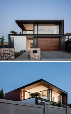 A combination of concrete, recycled bricks, solid timber, and black steel have been used throughout the design of the house. Office houses design plans exterior design exterior design houses home architecture house design houses Modern House Facades, Modern Architecture House, Modern House Plans, Architecture Design, Computer Architecture, Enterprise Architecture, System Architecture, Modern Family House, Best Modern House Design