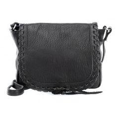 wardow.com - #bag #trend #blackandwhite #AmsterdamCowboys Wild Spirit Tadley Schultertasche weiches Rindsleder schwarz