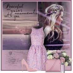 Peaceful and quiet moments with you by anna-survillo on Polyvore featuring polyvore moda style Markus Lupfer Christian Louboutin Bottega Veneta Brooks Brothers Guerlain Allstate Floral