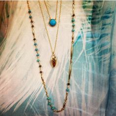 """Like new Stella & Dot Pamela Layering Necklace Semi precious stones. 40"""" long with 2"""" extender. Wear them long or doubled for a layered look! Like new condition, worn only a few times. Discontinued and sold out. Stella & Dot Jewelry Necklaces"""