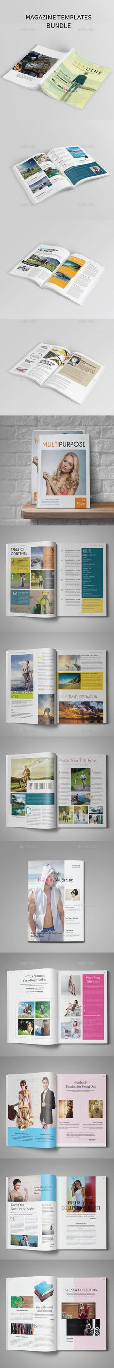 3 in 1 Magazine Templates Bundle  #design Download: http://graphicriver.net/item/3-in-1-magazine-bundle-vol2/13832407?ref=ksioks