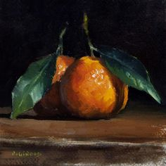 Clementines Painting by Pascal Giroud