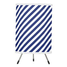Navy Blue and White Diagonal Stripes Pattern Tripod Lamp -  Navy Blue and White Diagonal Stripes Pattern             ... #custom #beach themed #gift #lampinabox  lamp design by #allpattern - #lampinabox  #lamp #navy #blue #white #diagonal #stripes #pattern #nautical #girly #chic #beach #navyblue #background #striped #navyblueandwhite #geometric #bluewhitepattern #blueandwhite #anchor #lines #modern #patterns #monogram #stripe #diagonalstripes #stripy #color #design #simple #line #elegant…