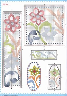 ru / фото - 934 - x-stitch bookmar Tiny Cross Stitch, Cross Stitch Bookmarks, Cross Stitch Borders, Cross Stitch Flowers, Cross Stitch Designs, Cross Stitching, Cross Stitch Embroidery, Cross Stitch Patterns, Peyote Beading Patterns