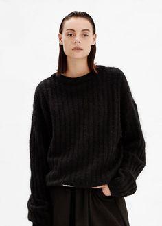 Acne Studios Dramatic Sweater in Black #totokaelo #acnestudios