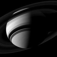 Saturn seen by the Cassini spacecraft in late 2012. If you look carefully, you can spot the shadow of Mimas in the image. Credit: NASA/JPL-Caltech/Space Science Institute