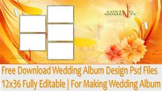 Free Download Wedding Album Design Psd Files 12x36 Fully Editable | For ...