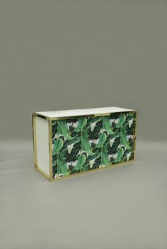 Unico Gold Palm Leaves Bar from Color Of The Year 2017 Pantone, Pantone Color, Green Furniture, Greenery, Vibrant Colors, Decorative Boxes, Palm, Leaves, Colour