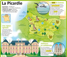 Fiche exposés : La Picardie - Newest Jewelry Models A Level French, Ap French, Learn French, Study French, French Teaching Resources, Teaching French, France Geography, French Verbs, Etiquette And Manners