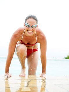 Get a great total body workout in the pool! This low impact cardio workout uses the resistance of the water to really challenge your body while being easy on your joints. This pool workout doesn't require any laps, so it's great for any level of swimmer!