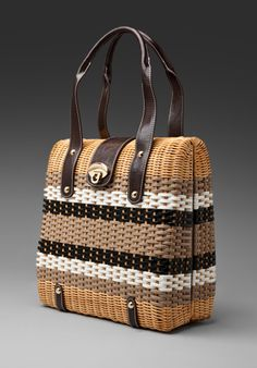 Trina Turk Wicker Cathy Tote in Natural
