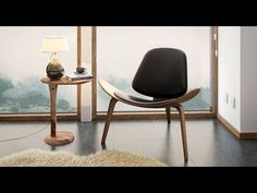 Wegner Shell Chair Replica (Black) by Urban Ladder Crate Furniture, Solid Wood Furniture, Furniture Design, Walnut Plywood, Living Room Upholstery, Lounge Chair Design, How To Clean Furniture, Chair Types, Modern Chairs