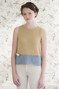 forsythia by pam allen / quince & co sparrow in butternut and birch