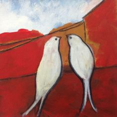 Love Birds a print of a painting by Susan Schwake by artesprit, $20.00