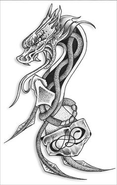 Have you finally chosen Celtic dragon tattoos? Let's see we can help you choose the best celtic dragon tattoo designs. For many years we have seen a lot of people choose dragon Celtic tattoos for their skin. Dragon Tattoo Art, Tribal Dragon Tattoos, Celtic Dragon Tattoos, Chinese Dragon Tattoos, Dragon Artwork, Dragon Tattoo Designs, Tattoo Designs Men, Axe Tattoo, Dragons