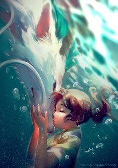 Spirited Away images dragon haku and chihiro. HD wallpaper and background photos