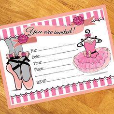 Ballerina Party Invitations (8)