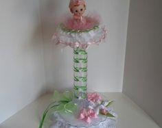 Baby shower centerpiece for girls by Sliceofdreams on Etsy