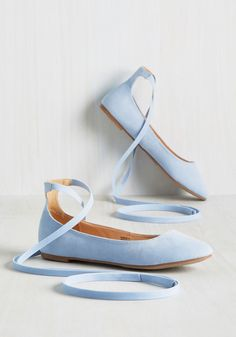 Going Through a Coryphee Flat. Its time to switch up your style, to phase out any so-so shoes for these fantastic ballet flats! #blue #modcloth