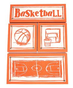 Take a look at this Basketball Fabric Wall Art Set by Twelve Timbers on #zulily today!