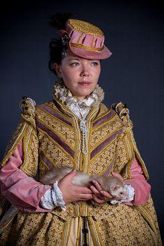 Yulya in renaissance costume by  Ekaterina Mikhaylova-Smolnyakova