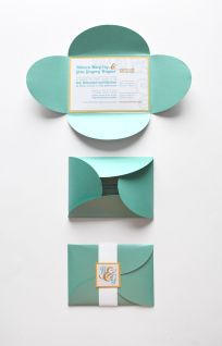 Petal-fold wedding invitation