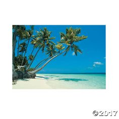 Transform any room into an island oasis with this Tropical Beach Backdrop Banner. Perfect to include in your luau- and beach-themed party supplies, this photo ...