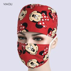 Printed Cap Hospital Laser Eye Operating Room Hats Doctors Nurses Unisex Medical Surgical Bea… - New ideas Crochet Mask, Crochet Faces, Mouth Mask Fashion, Fashion Face Mask, Diy Mask, Diy Face Mask, Face Masks, How To Clean Hats, Scrub Hat Patterns