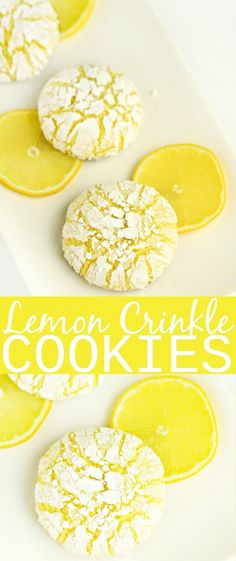 These melt-in-your-mouth Lemon Crinkle Cookies are absolutely dreamy. This cooki… These melt-in-your-mouth Lemon Crinkle Cookies are absolutely dreamy. This cookie recipe is one of my favourites, I could have these for dessert everyday! Baby Food Recipes, Mexican Food Recipes, Snack Recipes, Dessert Recipes, Snacks, Dinner Recipes, Lemon Recipes, Baking Recipes For Cookies, Amazing Cookie Recipes