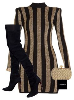 """Untitled #3418"" by kimberlythestylist ❤ liked on Polyvore featuring Balmain, Rolex and Bottega Veneta"