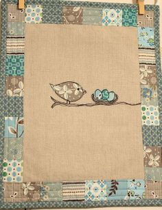 Finished Mama bird and her Nest by Erin @ Why Not Sew? Quilts, via Flickr