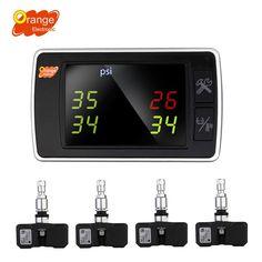 Amazon.com: Orange Wireless Tire Pressure Monitoring System, BAR/PSI/KPA 4…