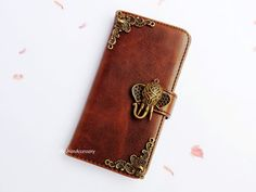 iPhone 5 Wallet case - elephant iphone 4 case - galaxy note 3 leather - Samsung S5 flip case - vintage phone case- victorian iPhone 5s cover on Etsy, €14,40
