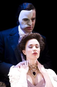 "Ramin Karimloo (Phantom) and Sierra Boggess (Christine) in ""Love Never Dies""."