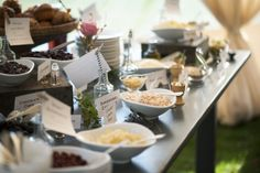 yogurt and oatmeal bar by Gourmet Galley #events #brunch