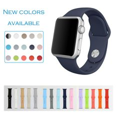 URVOI band for apple watch sport strap fluoroelastomer wrist pin-and-tuck closure silicone Colorful replacement new colors