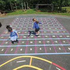 Our playground markings are long-lasting and come in a variety of colours to give you a vibrant playground area. Browse our playground markings for schools today. Playground Games, Playground Design, Backyard Playground, Outdoor Play Gym, Year 1 Classroom, Outdoor Learning Spaces, Kids Play Area, Outdoor Classroom, Outdoor Areas