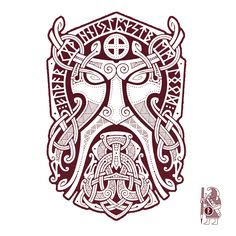 THOR.GODMASK. Knotwork Tattoo design by RAIDHO.