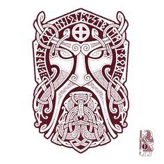 THOR.GODMASK. Knotwork Tattoo design by RAIDHO. #maoritattoosdesigns #tattoodesign