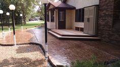 Stamped concrete patio by Sierra Concrete Arts. Concrete Patios, Concrete Art, Stamped Concrete, Deck, Outdoor Decor, Home Decor, Decoration Home, Room Decor, Front Porches