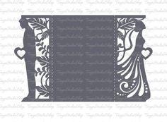 Mariage invitation SVG DXF ai CRD eps studio3 Dride