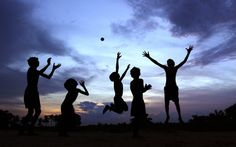 Indian children play at dusk on the outskirts of the eastern Indian city of Bhubaneswar, India Picture: AP Photo/Biswaranjan Rout)