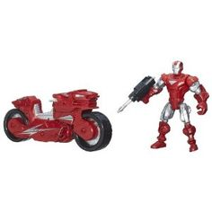 Marvel Super Hero Mashers Iron Man Figure with Hotshot Hot Rod Vehicle - What child does not like Marvel Super Heros?