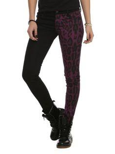Royal Bones Split Leg Black And Purple Leopard Skinny Pants Size : 7 Tripp NYC http://www.amazon.com/dp/B00IIWS1QM/ref=cm_sw_r_pi_dp_o5R5tb09C484G