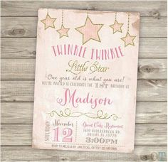 Twinkle twinkle little star one year old is what you are