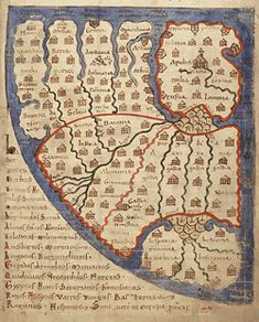 12th Century Map of Ghent University Library, Ms. 92, f. 241r: Europe
