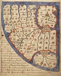 Presque chaque ouvrage de cartographie historique contient des cartes du Liber Floridus. Le manuscrit est en effet exceptionnellement important pour l'histoire de la cartographie. Les cartes sont du type mappae mundi, leur fonction était avant tout moralisatrice et didactique. La cartographie historique étudie ces cartes dans leur contexte historique. La mappa mundi est souvent une représentation cartographique de l'histoire biblique et factuelle.