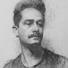 Alex #portrait #charcoal #drawing #representationalart #charcoaldrawing #sketch by stephenbaumanartwork
